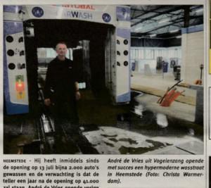 Carwash Heemstede in Het Weekblad